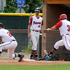"""Fairview's Cam Frazier, No. 3, is called out at first base during a Legion A game against the Gene Taylor's on Friday, Aug. 3, at Scott Carpenter Park in Boulder. For more photos of the game go to  <a href=""""http://www.dailycamera.com"""">http://www.dailycamera.com</a><br /> Jeremy Papasso/ Camera"""