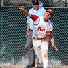 "Fairview's Ryan Madden throws the ball to make an out at first base during a Legion A game against the Gene Taylor's on Friday, Aug. 3, at Scott Carpenter Park in Boulder. For more photos of the game go to  <a href=""http://www.dailycamera.com"">http://www.dailycamera.com</a><br /> Jeremy Papasso/ Camera"
