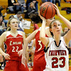 Fairview High School junior Hannah Hyde takes a shot during a basketball game against Loveland High School on Thursday, Jan. 20, at Fairview High School. Fairview defeated Loveland 61-39. <br /> Jeremy Papasso/ Camera