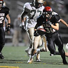 """Fairview junior Ben Meyer rushes in for a touchdown in the third quarter of the football game against Mountain Vista High School on Thursday, Sept. 16, at Recht Field in Boulder. Fairview lost 34-14.<br /> For photo gallery go to  <a href=""""http://www.dailycamera.com"""">http://www.dailycamera.com</a><br /> Jeremy Papasso/ Camera"""