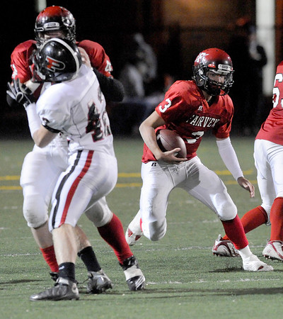 Fairview quarterback Michael McVenes rushes the ball during the second half of the football game on Friday, Oct. 15, against Pomona at Recht Field in Boulder. <br /> Jeremy Papasso/ Camera