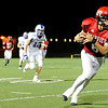 """Fairview High School's Will Stoorman runs with the ball after making a catch on Friday, Sept. 2, during a football game against Poudre High School at Recht Field in Boulder. Fairview won 21-3. For more photos of the game go to  <a href=""""http://www.dailycamera.com"""">http://www.dailycamera.com</a><br /> Jeremy Papasso/ Camera"""