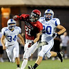 "Fairview High School's Cameron Frazier misses a pass on Friday, Sept. 2, during a football game against Poudre High School at Recht Field in Boulder. Fairview won 21-3. For more photos of the game go to  <a href=""http://www.dailycamera.com"">http://www.dailycamera.com</a><br /> Jeremy Papasso/ Camera"