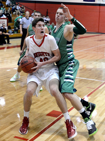 """Fairview High School's Miles MacKenzie drives past Peter Howell during a game against Thunder Ridge High School at Fairview in Boulder. For more photos of the game go to  <a href=""""http://www.dailycamera.com"""">http://www.dailycamera.com</a><br /> Jeremy Papasso/ Camera"""