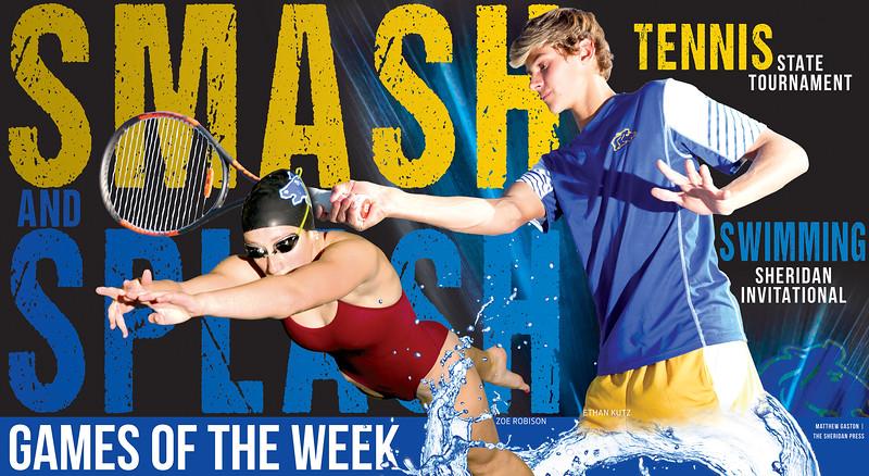 Matthew Gaston | The Sheridan Press Sheridan High School swimmer Zoe Robison and tennis player Ethan Kutz.