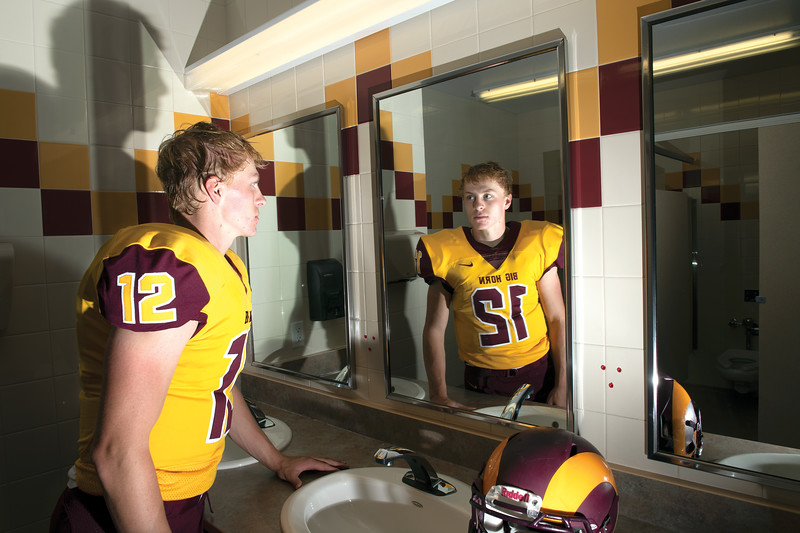 Matthew Gaston | The Sheridan Press<br>Big Horn quarterback Quinn McCafferty.