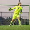 Angola Hornets goalkeeper Josiah Young (0) throws the ball to his teammate during Saturdays game at West Noble High School in Ligonier.