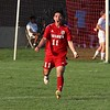 Goshen junior Edgar Mora reacts to scoring a goal during Saturday's game against Northridge at Goshen High School. The game would end in a 1-1 tie.