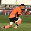 Northridge senior Diego Campos makes one of many saves he had during Saturday's game against Goshen at Goshen High School. The game would end in a 1-1 tie.