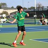 Northridge junior Kaleb Ellis gets ready to hit a forehand shot during his No. 3 singles match against Westview Tuesday at Northridge High School in Middlebury.