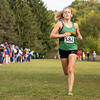 Northridge Raiders Haylee Hile (582) finishes first during Saturday's Varsity Girls NLC Championship at Ox Bow Park in Goshen.