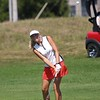 NorthWood junior Bre Goss chips the ball on to the 9th green during the Warsaw Invitational Saturday at Stonehenge Golf Club in Winona Lake.