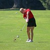 Goshen's McKenna Cripe hits an iron shot from the 15th fairway during Saturday's Wawasee Invitational at South Shore Golf Club in Syracuse.