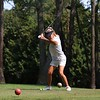 Northridge's Karisa Dyer hits a tee shot on the 10th tee during the NLC championship tournament Saturday at Bent Oak GC in Elkhart.