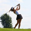 Wawasee's Rylee Firestone watches her drive on the 10th hole during the girls golf sectional Saturday at Stonehenge GC in Winona Lake.