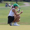 Concord's Madison Weaver lines up a putt on the ninth hole during the NLC championship tournament Saturday at Bent Oak GC in Elkhart.