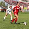 Goshen senior Alessandra Lozano Gomez (10) runs upfield during the game against Northridge Saturday at Goshen High School.