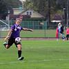 GREG KEIM | THE GOSHEN NEWS<br /> Senior goalie Meghan Cawood of the Northridge Raiders boots the ball during the IHSAA Class 3A girls soccer regional Saturday at Tallman-Beyrer Field in South Bend. Penn was a 4-0 winner.