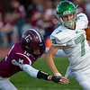 Sam Householder | The Goshen News<br /> Concord receiver Jack D'Arcy runs with the ball during the game against Mishawaka Friday.