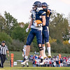 Fairfield Falcons wide receiver Braedon Helms (8) reacts after scoring a touchdown during Friday's game at Fairfield High School Jr./Sr.High School in Goshen.