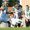 Wawasee Warriors Kameron Salazar (11) runs for a touchdown during the game between the Wawasee Warriors and the Lakeland Lakers Friday at Lakeland High School. The touchdown was offset by an illegal block in the back.