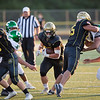 Wawasee running back Brandon Kelly runs with the football against Concord Friday.