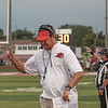 Goshen head coach Kyle Park reacts to a play during the first half of Goshen's game against Mishawaka Friday evening on Foreman Field.