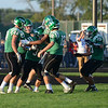 HALEY WARD | THE GOSHEN NEWS <br /> Concord celebrates after running back Ryan Cook scores in the game against Saint Joseph Friday at Concord High School.