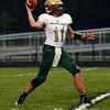 HALEY WARD | THE GOSHEN NEWS <br /> Wawasee quarterback Tyler Smith passes the ball during the game against Concord Friday at Concord High School.