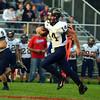 HALEY WARD | THE GOSHEN NEWS<br /> Fairfield junior Zac Lantz runs down field against West Noble Friday at West Noble High School.