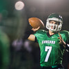 SAM HOUSEHOLDER | THE GOSHEN NEWS<br /> Concord quarterback Trevor Wilmore throws to a teammate during the game against Northridge Friday.