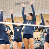 Fairfield Falcons middle hitter Madisyn Steele (13) and her teammates react during Thursdays game at Fairfield Jr./Sr. High School in Benton.