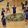 Bethany Christian celebrates a point during the third set of Thursday's game against Wawasee at Wawasee High School in Syracuse.