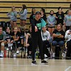 Concord volleyball coach Kelly Chupp coaches yells out instructions during her team's match against NorthWood Thursday at NorthWood High School in Nappanee.