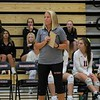 NorthWood volleyball coach Hilary Laidig looks on during her team's match against Concord Thursday at NorthWood High School in Nappanee.