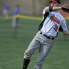 Balboa outfielder Matt Shaw getting ball back in during game against Maccabi Saturday.