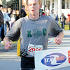 Andover: Glenn Randall, of North Reading is the first male to finish the 3 mile race of the 21st Annual Feaster Five Road Race in Andover Thanksgiving morning. Photo by Tim Jean/Eagle-Tribune Thursday, November 27, 2008