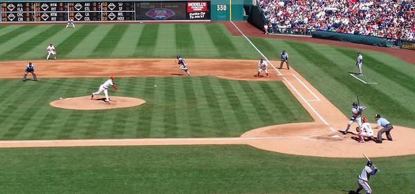 Game In Motion - Philadelphia Phillies vs Montreal Expos at Citizen's Bank Park - Philadelphia, Pennsylvania