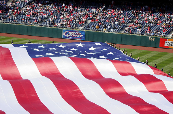 United States Flag - Opening Day - Citizen's Bank Park - Philadelphia, Pennsylvania