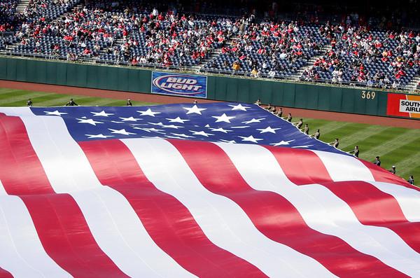 United States Flag - Opening Day - Citizen's Bank Park - Philadelphia, Pennsylvania