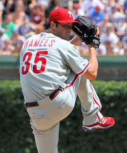 Philadelphia Phillies #35 Cole Hamels - Wrigley Field - Chicago, Illinois