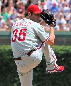 Philadelphia Phillies #35 Cole Hamels - Wrigley Field - Chicago, Illinois