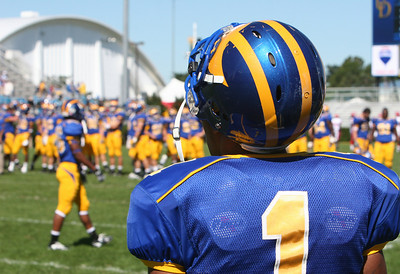 Pre-Game Warmups - University of Delaware Football - Tubby Raymond Field - Newark, Delaware
