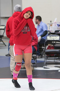 Danae Sanchez of Juarez Lincoln faced Kaitlyn Hunt of Cibolo Steele in the championship round of the 148 pound class and won first place.