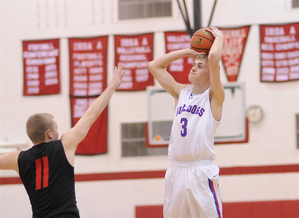 St. Anthony's Neil Williams shoots a jumper against Nokomis at the Class 1A Nokomis Regional.