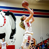 St. Anthony's Megan Nuxoll puts up a layup during the Bulldogs' Senior Night win against Ramsey.