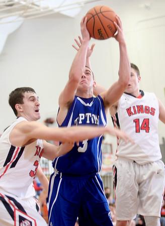 2-24-15<br /> Tipton vs Cass basketball<br /> Tipton's Mason Degenkolb shoots.<br /> Kelly Lafferty Gerber | Kokomo Tribune