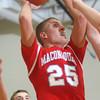 2-26-15<br /> Taylor vs Maconaquah basketball<br /> Maconaquah's Luke Hann shoots.<br /> Kelly Lafferty Gerber | Kokomo Tribune