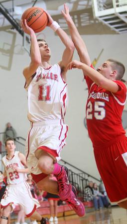 2-26-15<br /> Taylor vs Maconaquah basketball<br /> Taylor's Darian Stone shoots.<br /> Kelly Lafferty Gerber | Kokomo Tribune