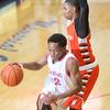 2-27-15<br /> Kokomo vs Northrop basketball<br /> Kokomo's Jeron Gray dribbles down the court.<br /> Kelly Lafferty Gerber | Kokomo Tribune